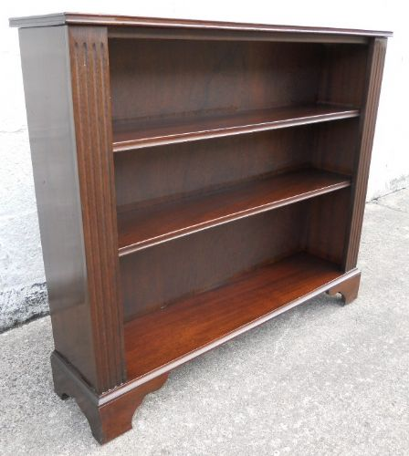 Antique Edwardian Style Mahogany Standing Open Bookcase Cabinet - SOLD